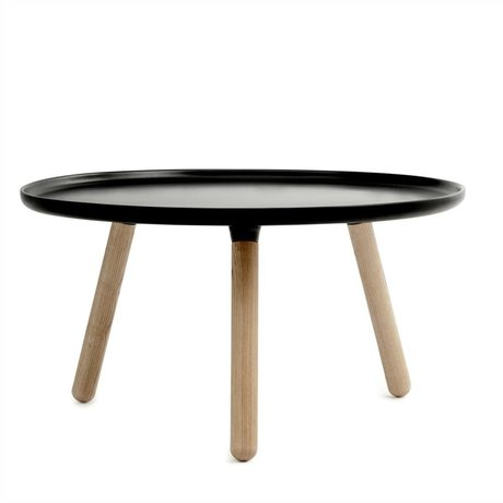 Normann Copenhagen Tisch Tablo schwarz aus Kunststoff und Eschenholz ø78cm