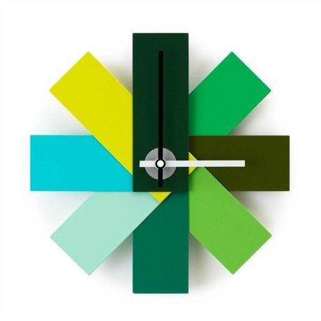 Normann Copenhagen Reloj reloj me ø28,5cm de aluminio verde