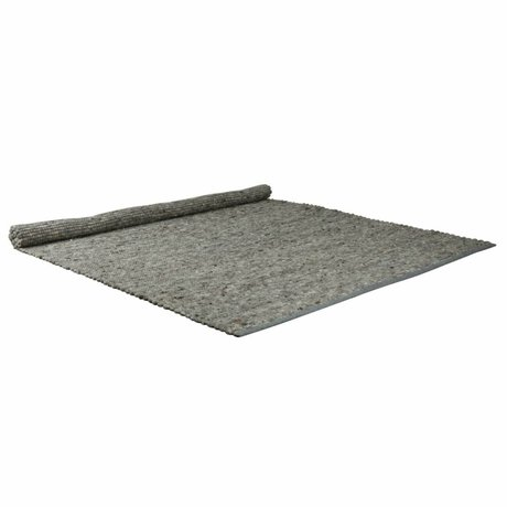 Zuiver Alfombra luz pura lana gris 160x230cm sisal