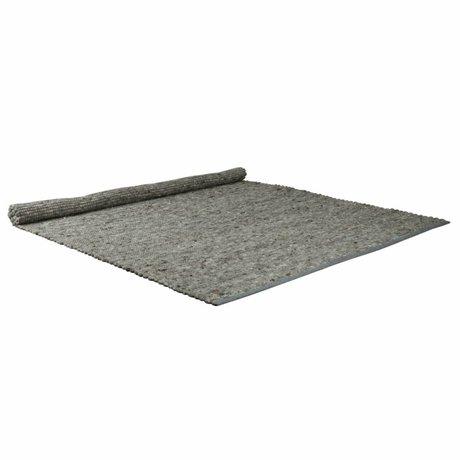 Zuiver Wollteppich mit Sisal Anteil Pure hellgrau 160x230cm