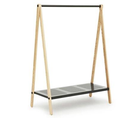 Normann Copenhagen Abbigliamento rack Toi grigio acciaio 160x120x59,5cm cenere