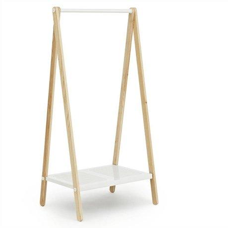 Normann Copenhagen Giyim beyaz çelik kül 160x74x59,5cm raflar