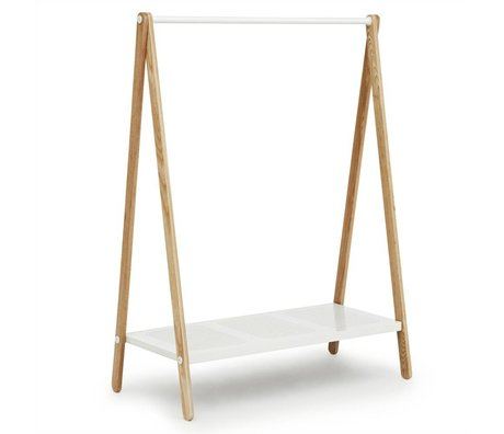 Normann Copenhagen Clothing racks Toj white steel ash 160x120x59,5cm