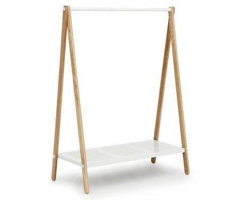Normann Copenhagen Giyim Toj beyaz çelik kül 160x120x59,5cm raflar