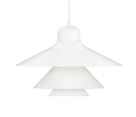 Normann Copenhagen Hanging lamp Ikono white coated steel glass Ø45cm
