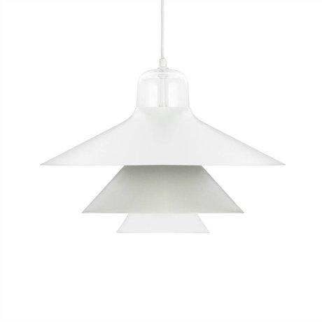 Normann Copenhagen Hanging lamp Ikono gray coated steel glass Ø45cm