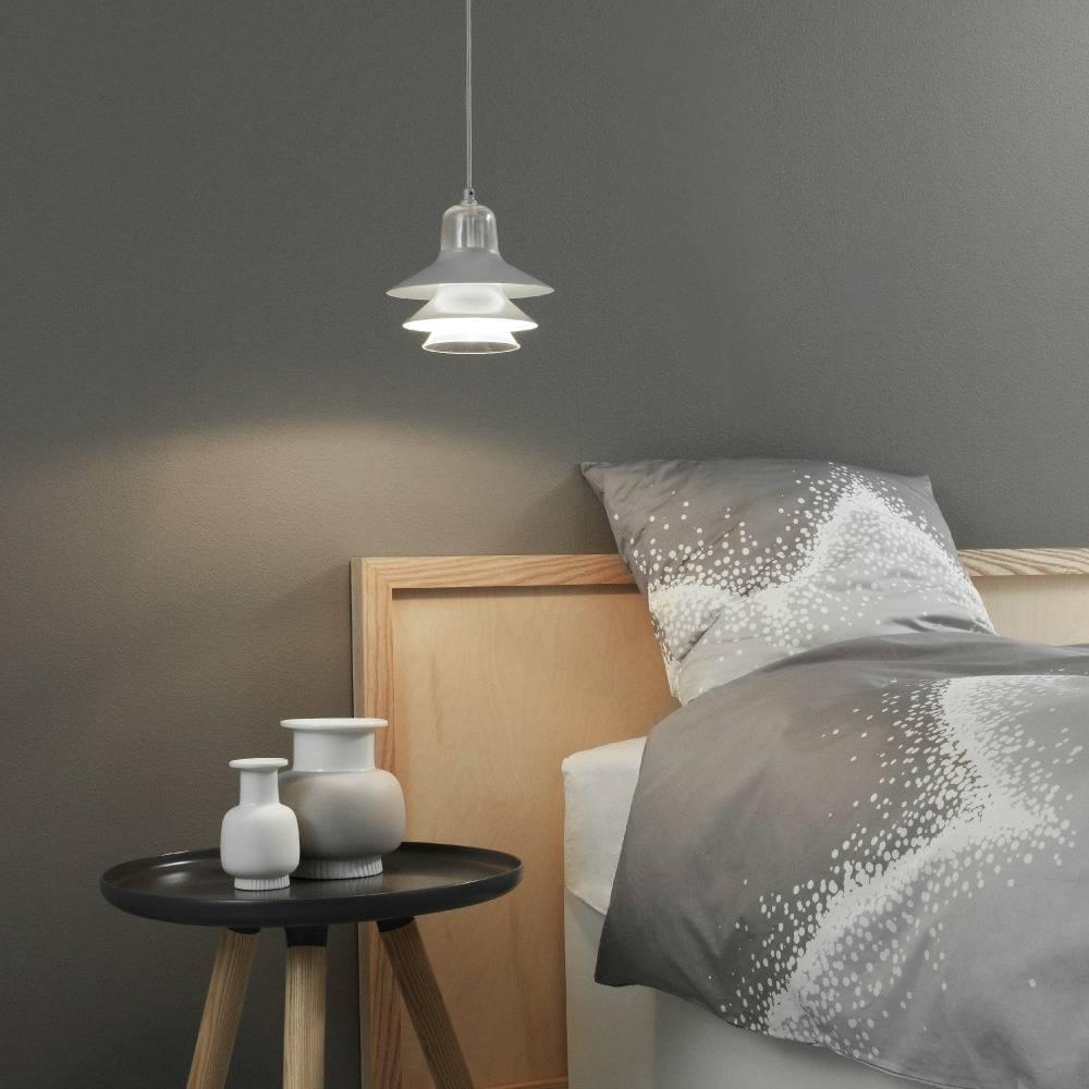 normann copenhagen deckenlampe ikono grau beschichtetem stahl glas 45cm. Black Bedroom Furniture Sets. Home Design Ideas