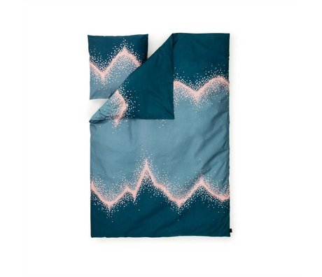 Normann Copenhagen Bedcover serpin mavi 140x200cm pamuk