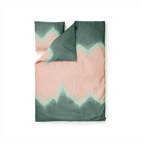 Normann Copenhagen Bedcover Sprinkle green Baumwollbe 140x200cm