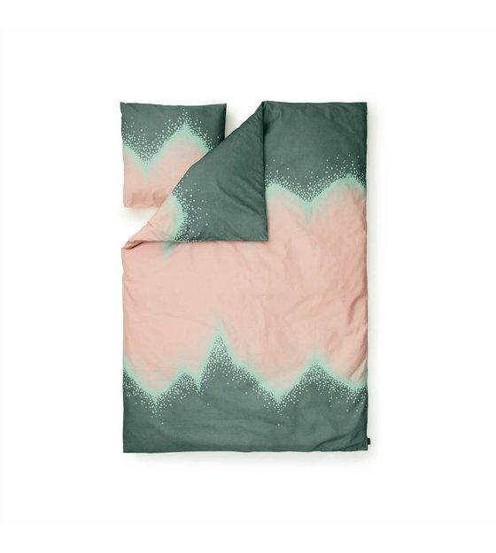 normann copenhagen bettw sche sprinkle gr n baumwolle 140x200cm. Black Bedroom Furniture Sets. Home Design Ideas
