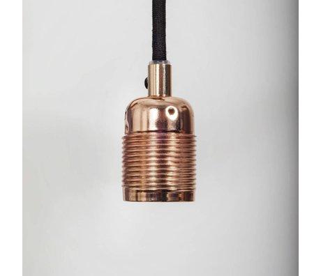 Frama Shop Lampen Aufhängung Electra mit E27 Fassung aus Kupfer schwarz Metal lØ4x7,2cm