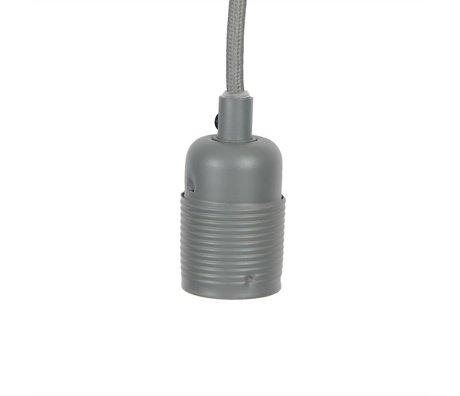 Frama Shop Lampen Aufhängung Electra mit E27 Fassung aus Metall in grau Metall  Ø4x7,2cm