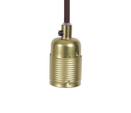 Frama Shop String Electra med version e27Gold Brass bordeaux metal Ø4x7,2cm
