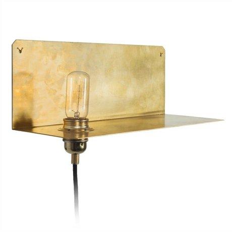 Frama Shop Lámpara de pared de 90 ° la pared del oro de latón latón 15x40x15cm