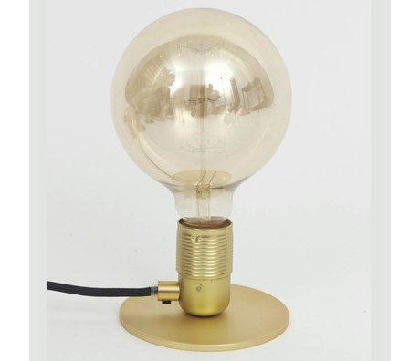 Frama Shop Bordlampe med E27 Guld Messing Messing Ø12x7,2cm