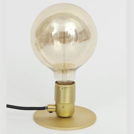 Frama Shop Lampe de table avec E27 Or Laiton Ø12x7,2cm