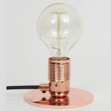 Frama Shop Lámpara de mesa con E27 Cobre Latón Ø12x7,2cm