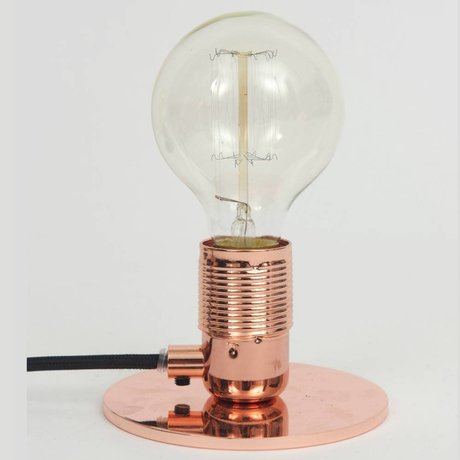 Frama Shop Tischlampe mit E27 Fassung Kupfer Messing Ø12x7,2cm