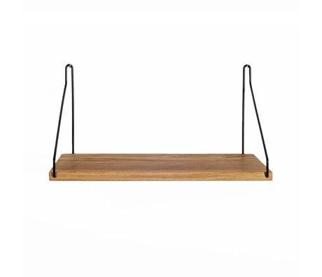 Frama Shop Estantería de roble 40x20cm de acero negro