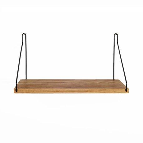 Frama Shop Boghylde sort stål eg 40x20cm