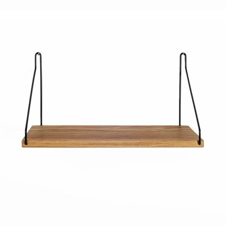 Frama Shop Bookshelf black steel oak 40x20cm