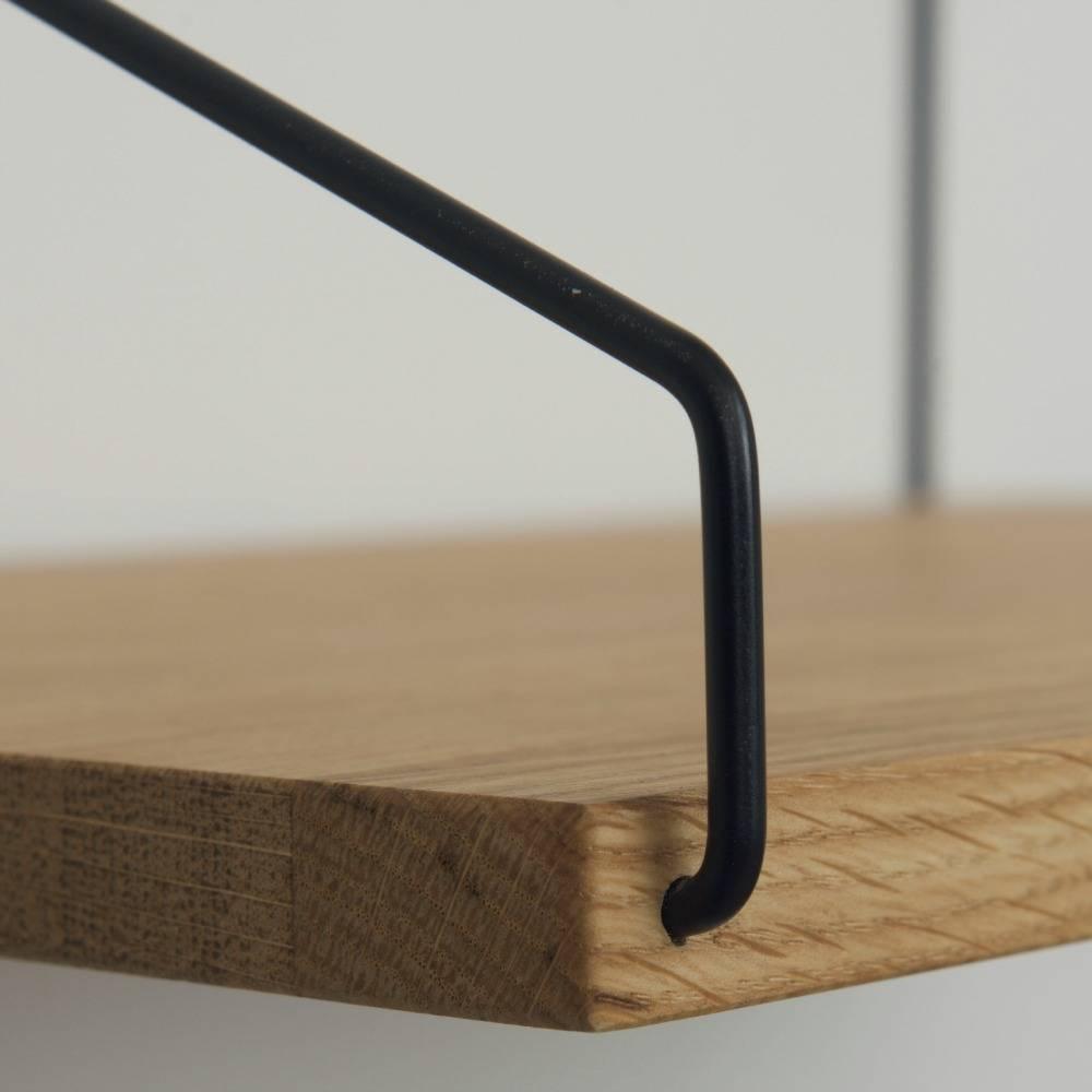 frama shop b cherregal eichenholz schwarz stahl 40x20cm. Black Bedroom Furniture Sets. Home Design Ideas