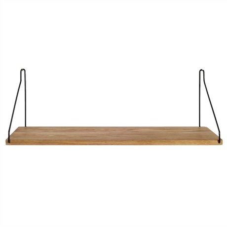 Frama Shop Bookshelf black steel oak 60x20cm