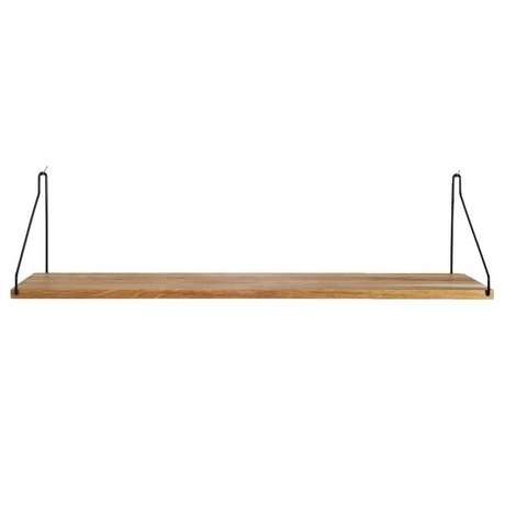 Frama Shop Bookshelf black steel oak 80x20cm