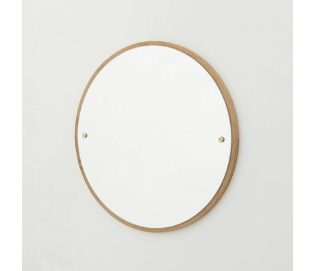 Frama Shop Mirror CM brown oak wood Ø40cm
