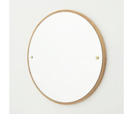 Frama Shop Mirror CM brown oak wood Ø60cm