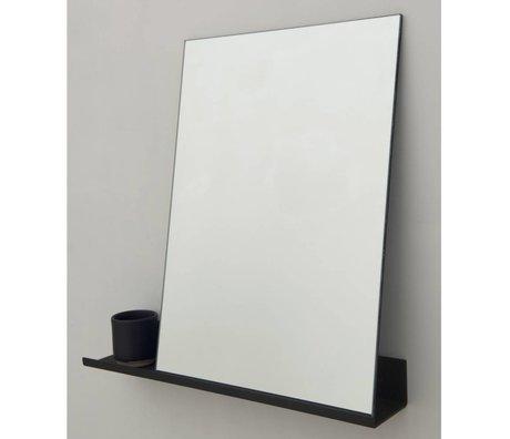 Frama Shop Espejo Estante de aluminio negro 50x50cm