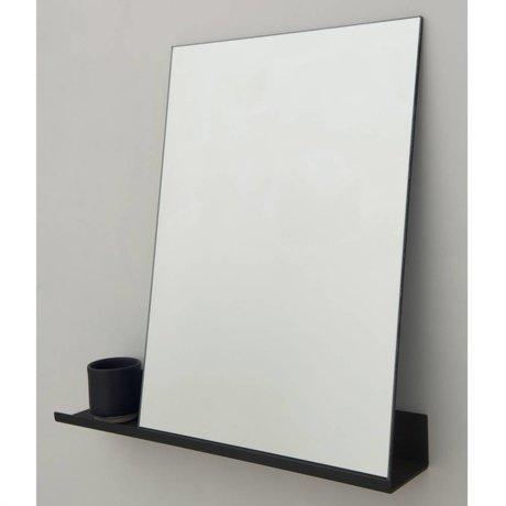 Frama Shop Specchio Mensola 50x50cm alluminio nero