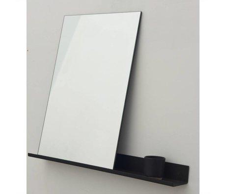 Frama Shop Ayna Raf siyah alüminyum 70x90cm