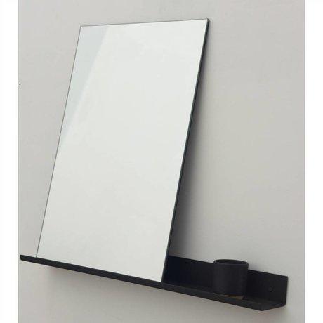 Frama Shop Mirror Hylde sort aluminium 70x90cm