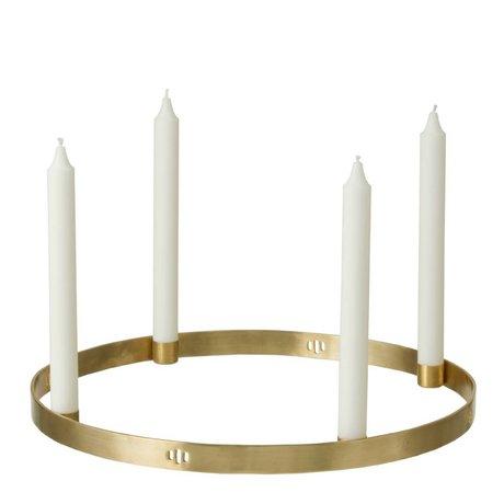 Ferm Living Lysestage Circle Messing Gold ø38cm