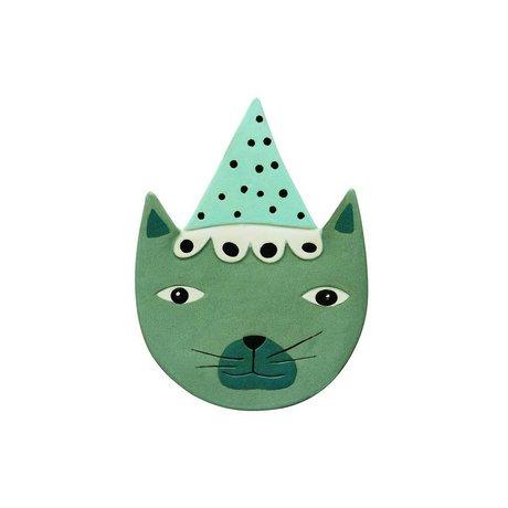 OYOY Tilbehør til Wall Buster Cat blå grøn keramik 20x27c