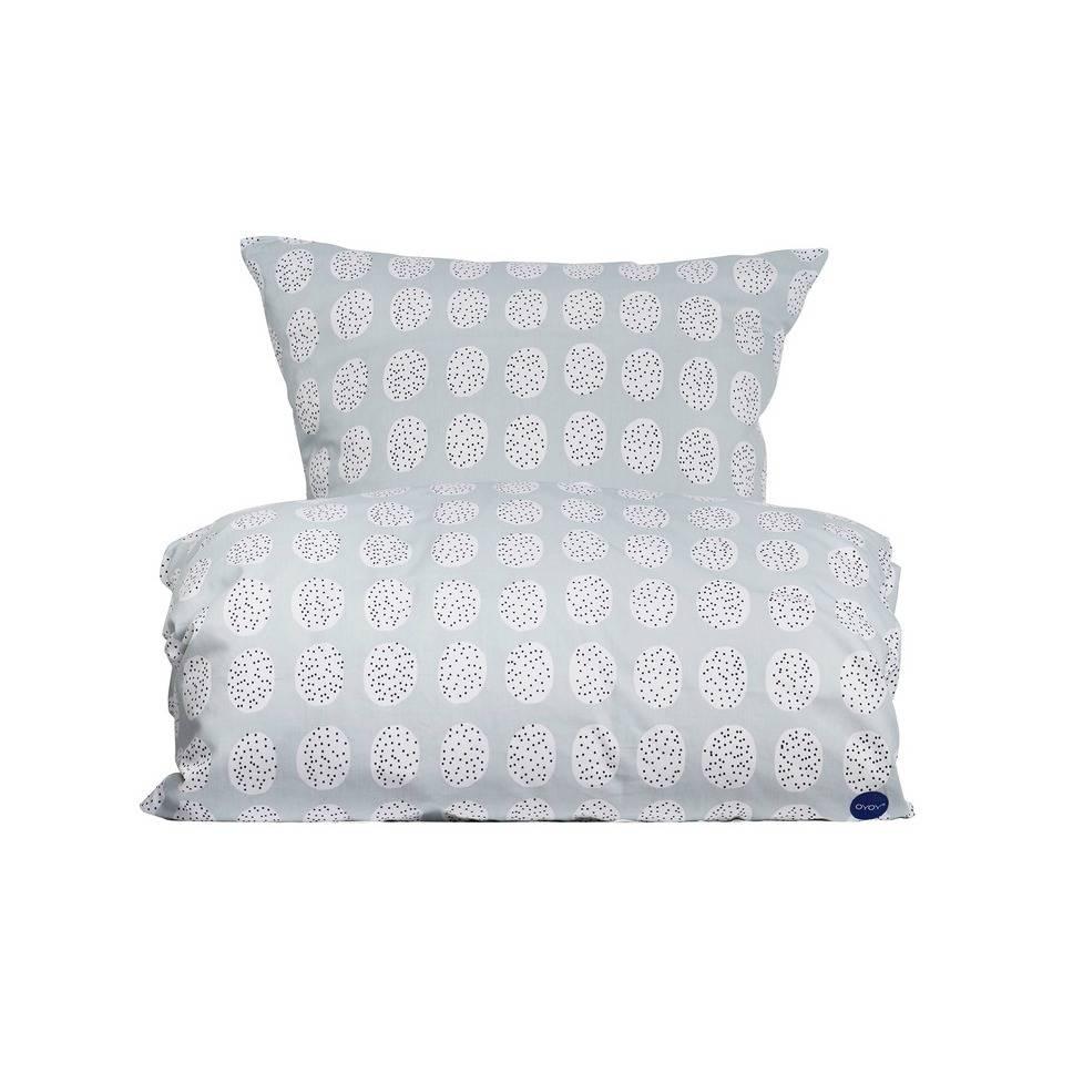 oyoy bettw sche haya bedding in grau wei aus baumwolle 140x220cm. Black Bedroom Furniture Sets. Home Design Ideas