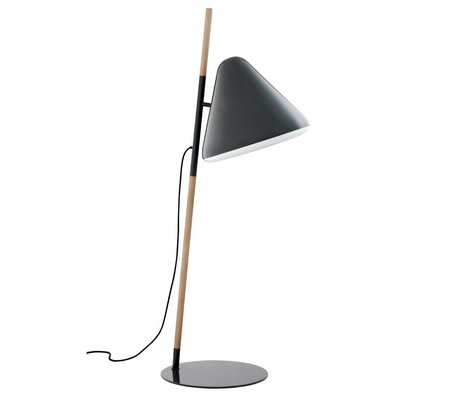 Normann Copenhagen Floor lamp Hello gray metal timber Ø49x165cm