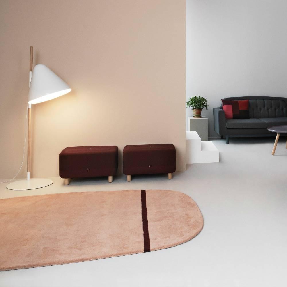 normann copenhagen floor lamp hello gray metal timber 49x165cm. Black Bedroom Furniture Sets. Home Design Ideas