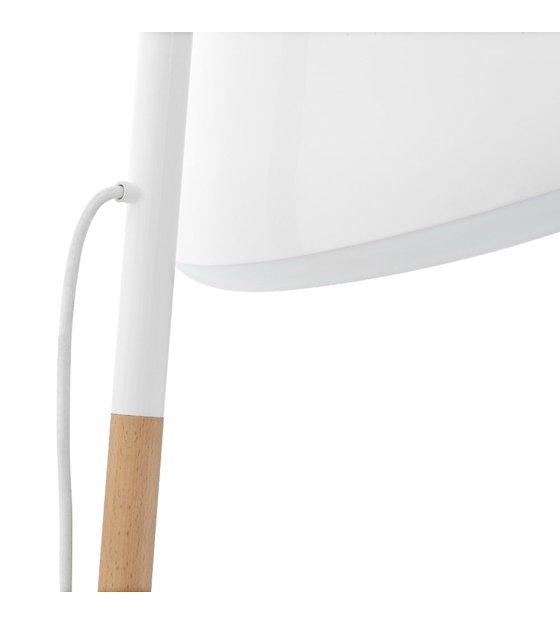 normann copenhagen stehlampe hello in wei kombi aus metall und holz 49x165cm. Black Bedroom Furniture Sets. Home Design Ideas
