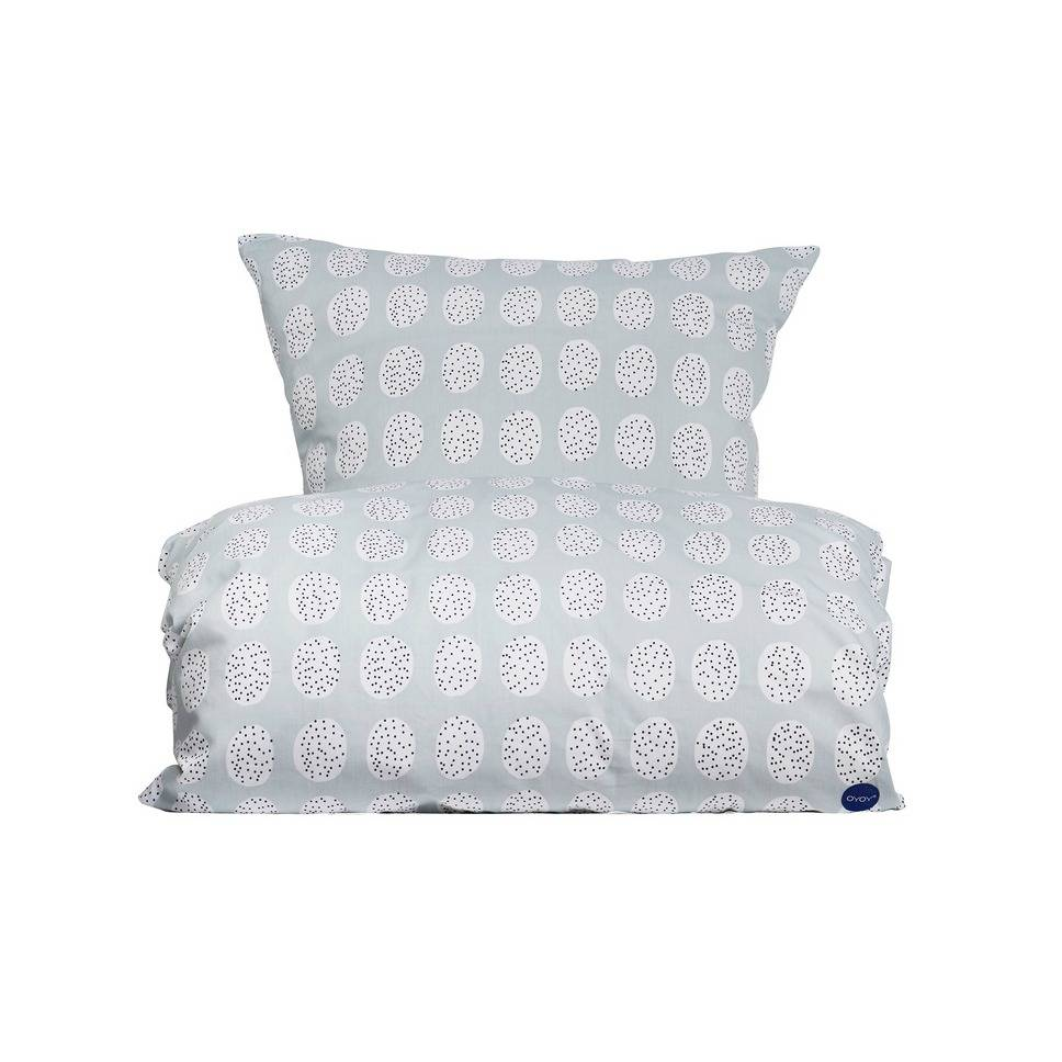 oyoy bettw sche haya bedding baby grau wei aus baumwolle 140x220cm. Black Bedroom Furniture Sets. Home Design Ideas