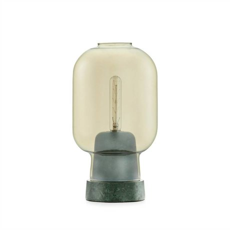 Normann Copenhagen Table Lamp Amp gold glass green marble Ø14x26,5cm