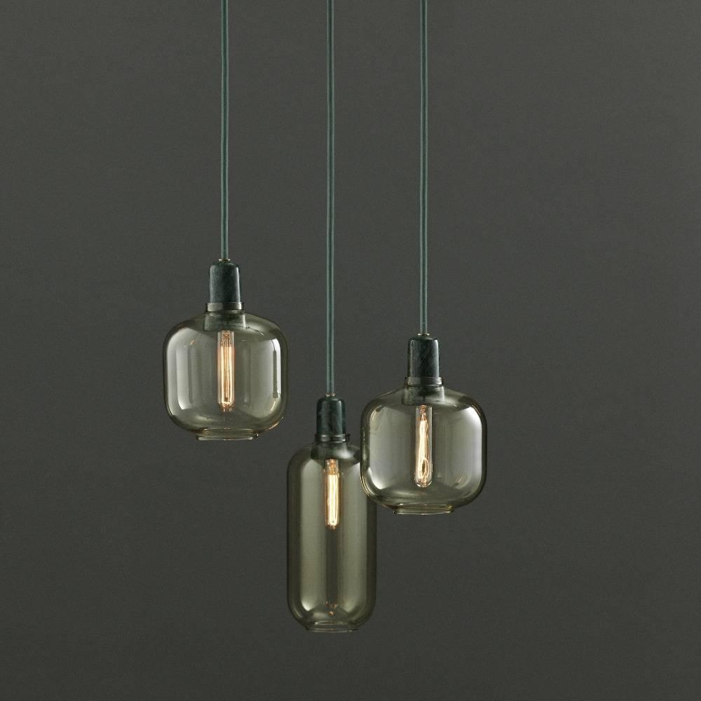 normann copenhagen h ngende lampe amp guld glas gr n marmor 11 2x26cm. Black Bedroom Furniture Sets. Home Design Ideas