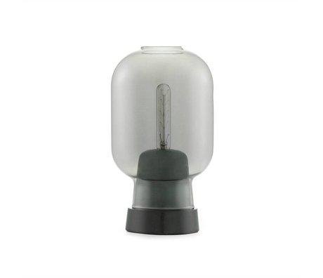 Normann Copenhagen Lampada a sospensione in vetro nero Amp marmo Ø14x26,5cm