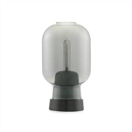 Normann Copenhagen Deckenlampe Amp schwarz aus Glas mit Marmorfassung Ø14x26,5cm