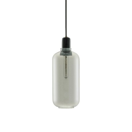 Normann Copenhagen Hængende lampe Amp sort glas marmor Ø11,2x26cm