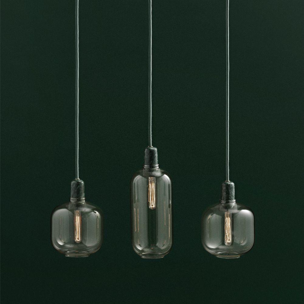 normann copenhagen h ngende lampe amp sort glas marmor 14x17cm. Black Bedroom Furniture Sets. Home Design Ideas