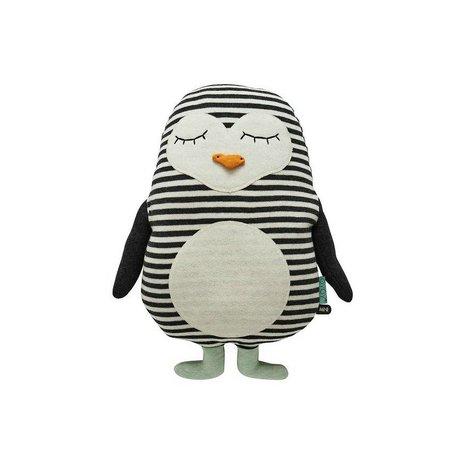 OYOY Penguin hvid sort bomuld 31x41cm