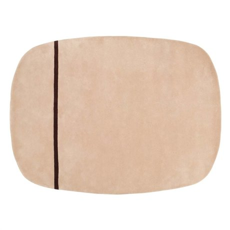 Normann Copenhagen Oona alfombra de lana de color rosa 175x140cm
