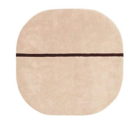Normann Copenhagen Tappeto Oona rosa Wolle140x140cm